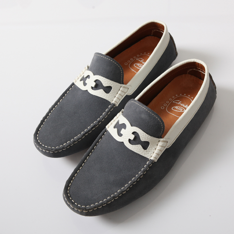 Real Leather men loafers driving casual walking custom shoes