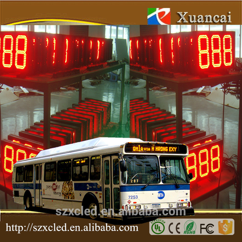 Hot sale 3 digits indoor led bus route programmer sign/display from China