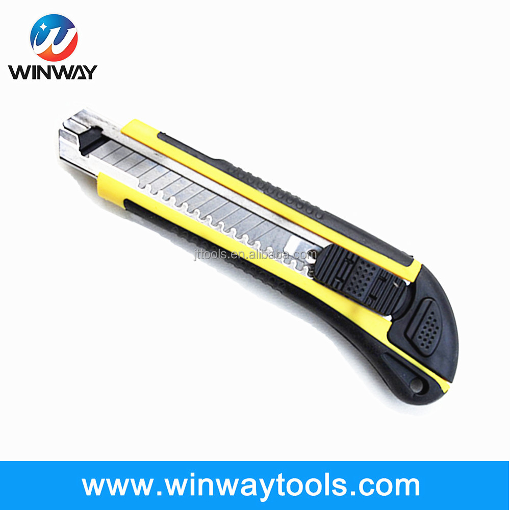 Cutter knife Promotional 18mm Factory Direct Wholesale Utility Knife Box/ Paper Cutter with Stainless Steel Sliding Blade