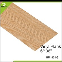 Durable Wood Look Indoor Usage Environmental Friendly Vinyl Floor
