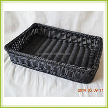 guangxi bread baskets plastic poly rattan basket