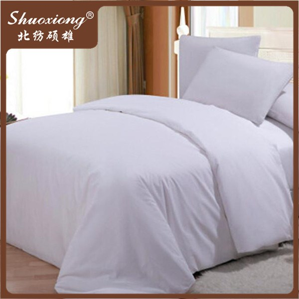 200TC 40 yarns white cotton hotel bedspreads