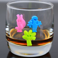 Silicone party drink cup identifier
