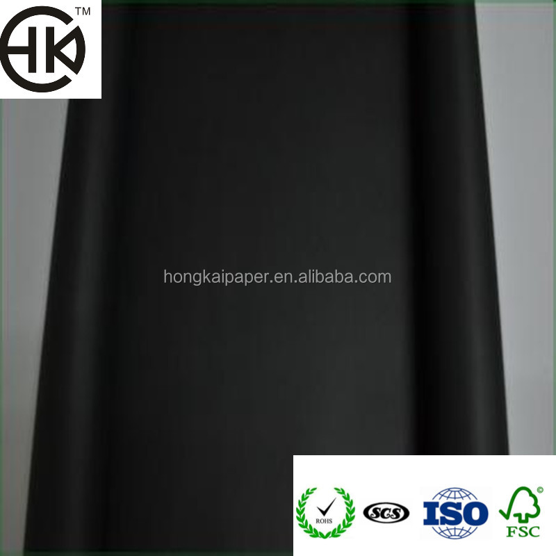 wholesale customized 300gsm-500gsm C2S black cardboard paper