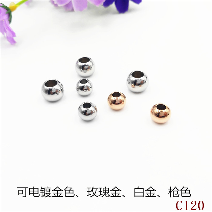 <strong>silver</strong>/gold/rose gold tone 2mm 2.5mm 3mm 4mm round hollow stainless steel spacer ball beads with hole for bracelets making