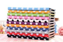 Pink Fashion Polka Dot Flip Stand Slim Soft Synthetic Leather Tablet Case Cover for ipad Mini Mini 2