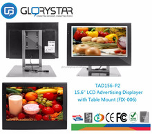 15 inch LCD pos display, video card player digital photo frame, wall hanging lcd advertising player