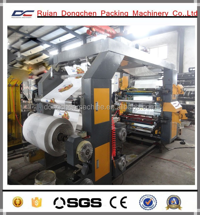 High speed 4 colors Plastic Bags Flexo Printing Machine Roll to Roll