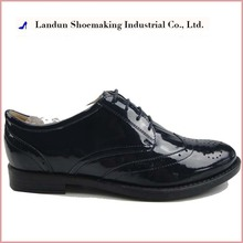 2017 Brazilian genuine leather mature women shoes with low price