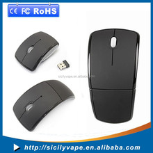 Optical Foldable Wireless Mouse Mice for windows and all system USB 2.4G Snap-in Receiver Black
