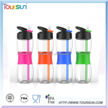 Customize logo Popular Sport Water Bottle With Silicon Sleeve