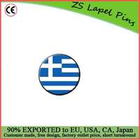 Custom high quality hot gift product Greece Greek Flag Metal Lapel Hat Pin