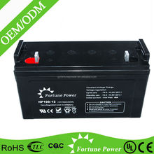 Sufficient capacity sealed lead acid dry charged battery 12v 100ah
