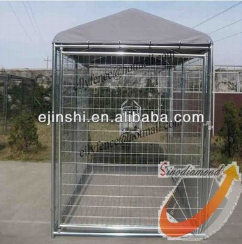 Galvanized Temporary Dog Kennels Fence Panel with Awning Cloth