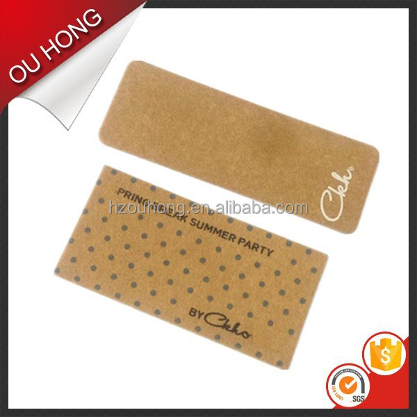 New China Alibaba Jeans Accessories Kraft Hangtag