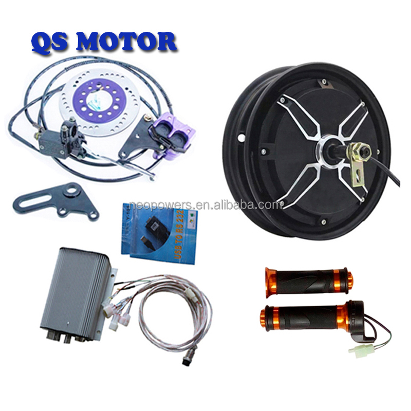 QS 205 4000W 48V-72V 10inch Hub Motor V3 Electric Motorbike complete Conversion Kits Speed 100KM/H