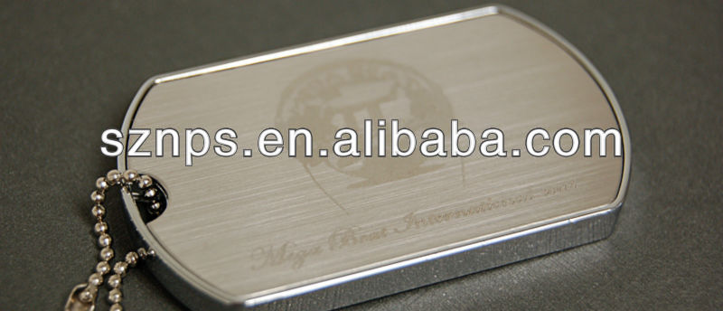 Customized OEM promotional metal dogtag usb disk usb disc