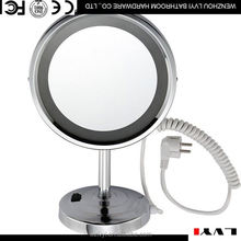 Latest arrival stylish double sides novelty design salon round desktop mirror