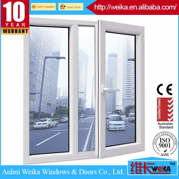 Tempered glass polycarbonate vinyl pvc low e casement storm windows