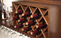 wood wine cabinet for hotel/wood kitchen cabinets for resturant/antique wine cabinet