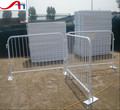 Flat feet road steel barricade/temporary pedestrian barrier