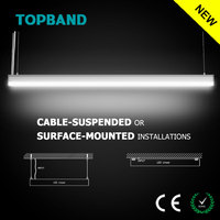 40W Hanging Linkable Streamline 2 LED Linear CE Rohs Residential Lighting with Dimming Function