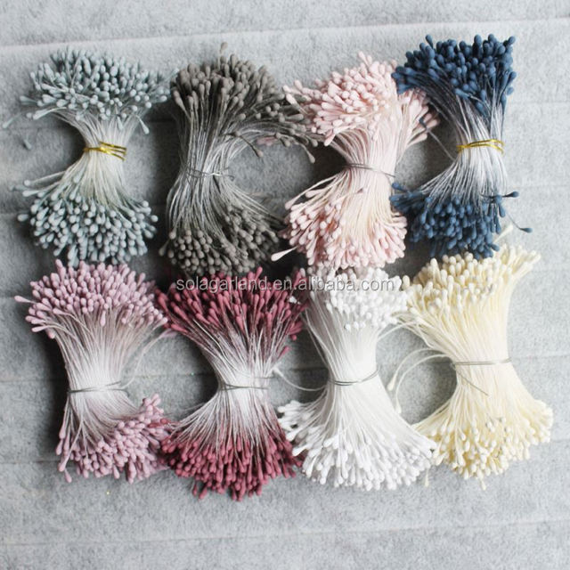 Mini Artificial Flower Stamens Handmade For Wedding Party Home Decoration DIY Christmas Scrapbook Supplies Accessories