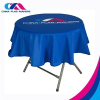 cheap 108 inch black trade show promotion round tablecloth
