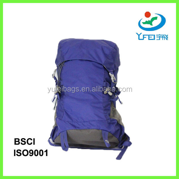 YF-BP017 70L Heavy Duty Denim Wholesale Backpack For Hiking