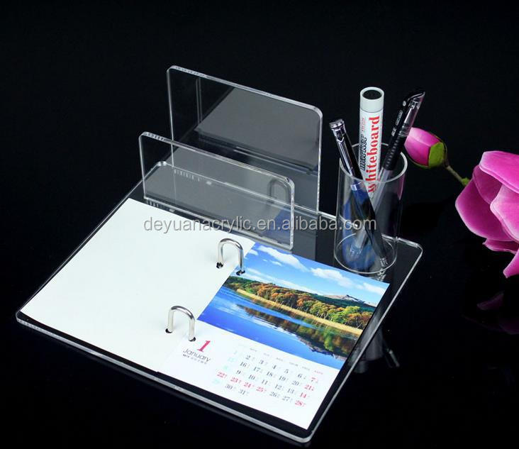 Acrylic Desk Calendar With Stand Used In Office /Hotel
