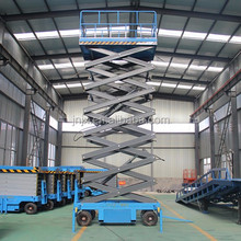 Electric hydraulic mobile scissor lift small elevator used for home painting