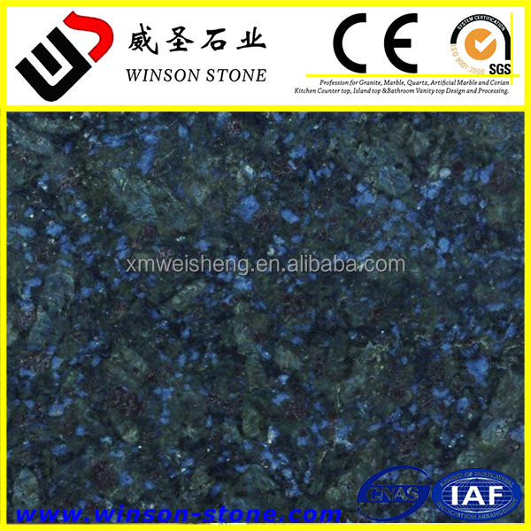 Beautiful butterfly blue granite , Alibaba best selling granite tiles on sale