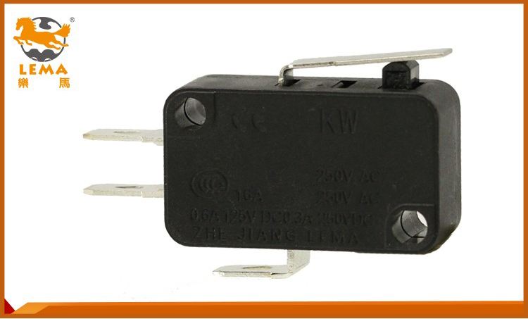 High quality KW7-11 pin plunger actuator special lever micro switch