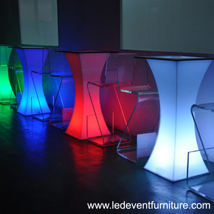 16 color change battery operated illuminated furniture led bar party event wedding catering tea coffee cocktail table