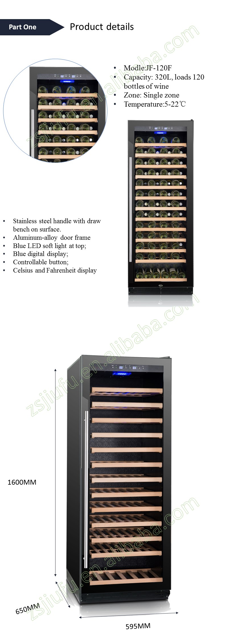 Hot wholesale home wine refrigerator with JIAXIPERA compressor