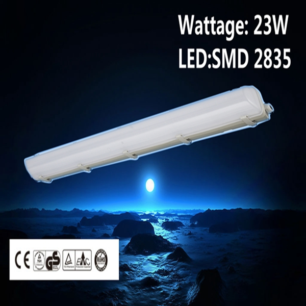 IP65 Tri-proof LED Light Fixture CE GS RoHS approved led high lumen