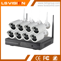 LS VISION IP CCTV Kit System 8CH 960P Wifi Camera Wireless HD Bullet for Home and Office Protection