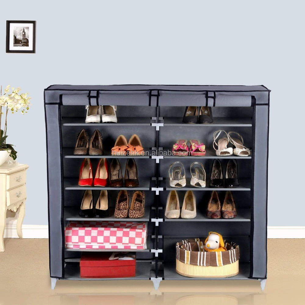 36 Shoe Storage Rack. Cloth Cover Shelf Closet Family Organizer