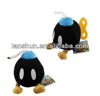 "Super Mario Brothers Bros LOVELY Black BOMB 18cm/7"" Soft Plush Toy Doll"