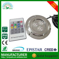 green water pond led DMX Control RGB 18W LED Underwater Lighting