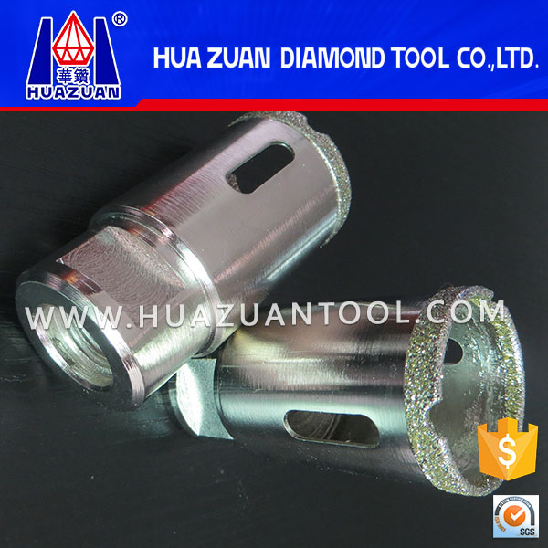 hot sale diamond tip electroplated core drill bit for glass stone