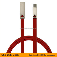 Fast charging 2 in 1 micro usb charging cables for different brand devices