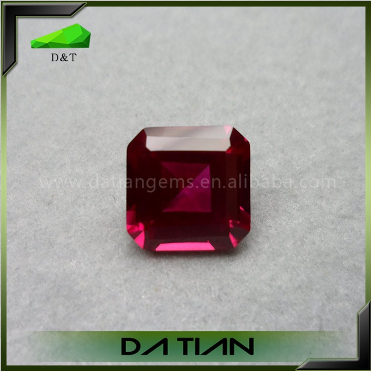Perfect quality 5# color square synthetic ruby rough prices