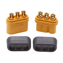 Amass MR60 Plug w/Protector Cover 3.5mm 3 core Connector T plug Interface Connector Sheathed for RC Model