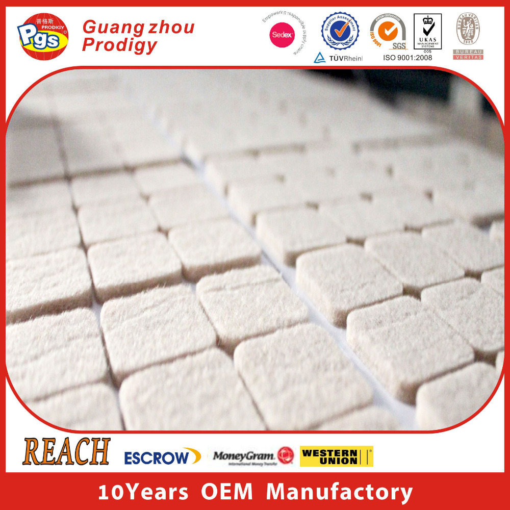Trade Assurance Self Adhesive Felt Pads/chair Leg Floor Protection