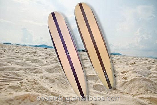 2014 bamboo design stripe rowing boat oars/ round nose fiberglass big size paddle board