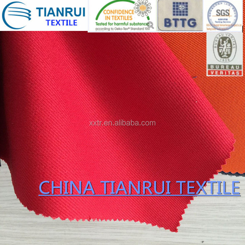 cotton fabric for workwear with FR and anti-static