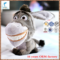 new design Fabric customed soft cheap price donkeyl plush toy for promotion