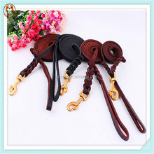 High Quality Braided Leather Dog Leashes, Leather Leashes for Dogs