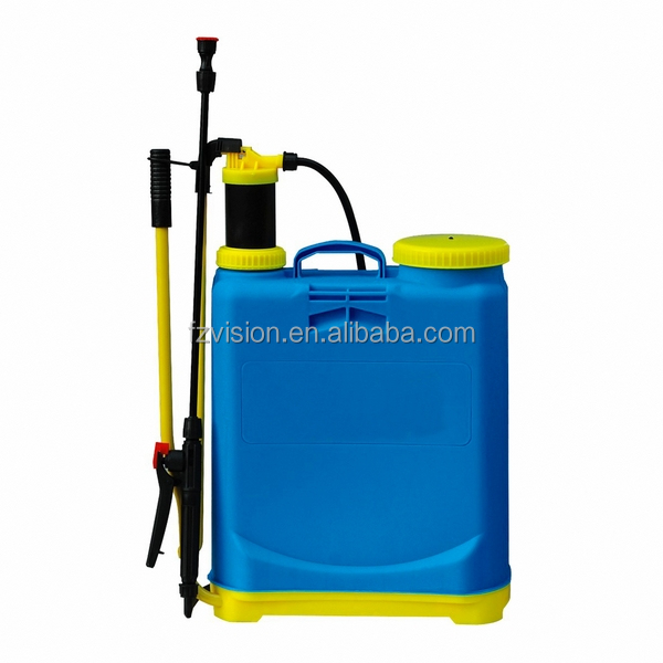 sprayer agriculture with blue color and PP tank
